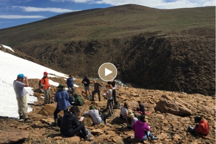 A team of GW students and scientists in the Siberian tundra